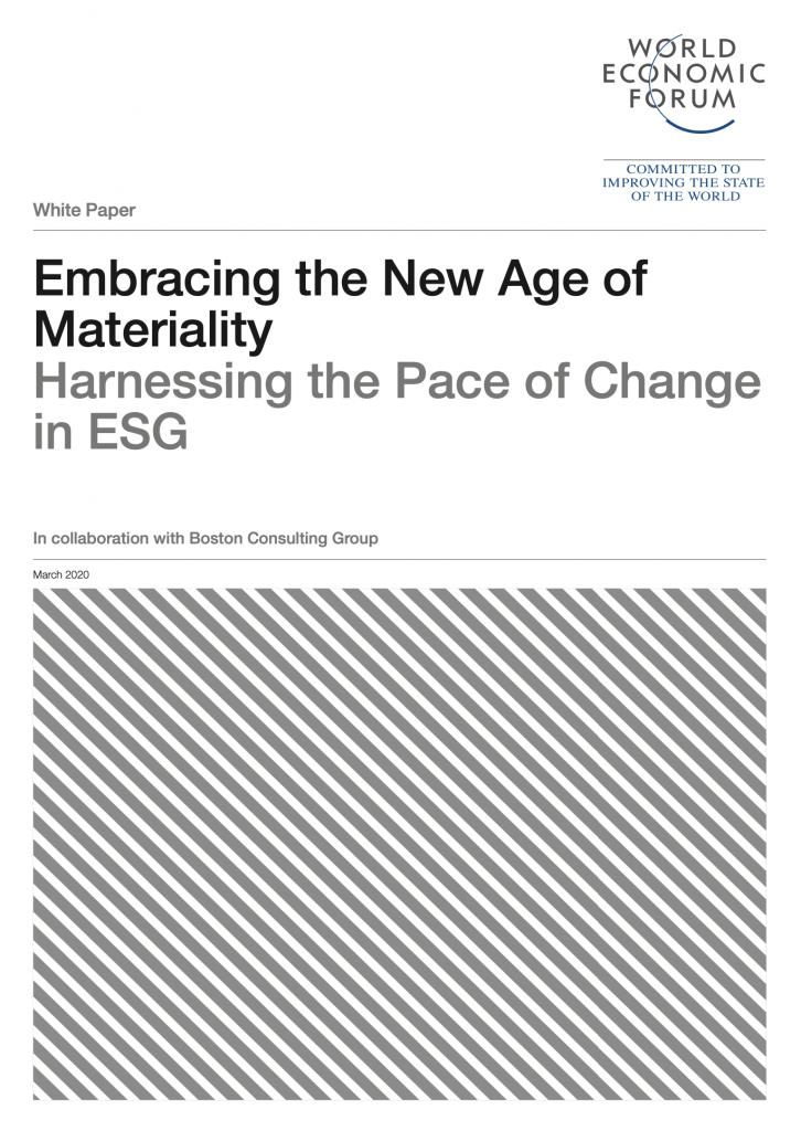 """Il rapporto World Economic Forum realizzato in collaborazione con BCG affronta i temi della """"materiality"""" in relazione alle logiche di investimento ESG"""